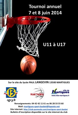 <br/>TOURNOI de BASKET à MARTIGUES